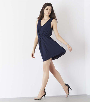 Fit And Flare Dress With Back Detail PEACOAT