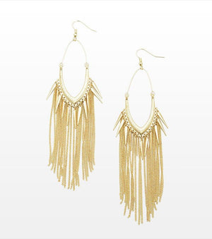 Fringe And Spike Earrings GOLD