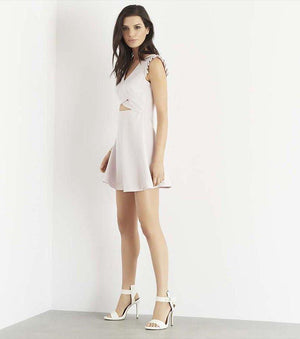 Fit And Flare Dress With Cutout ORCHID ICE