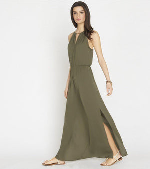 Halter Maxi Dress With Front Cutout TARMAC