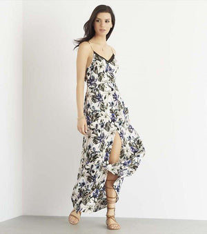 Printed Maxi Dress With Back Bow BOTANICAL TROPICS
