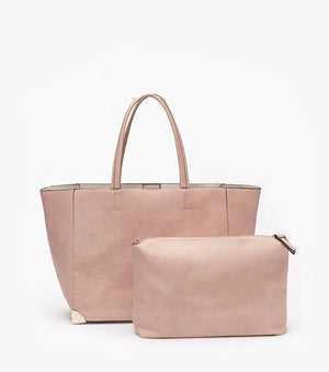 Two-In-One Tote Bag PINK/BEIGE