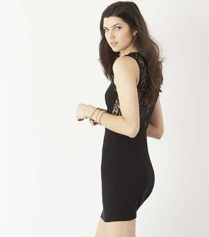 Bodycon Dress With Back Lace DESERT FLOWER;JET BLACK