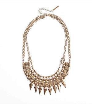 Two Tier Statement Necklace ANTIQUE GOLD