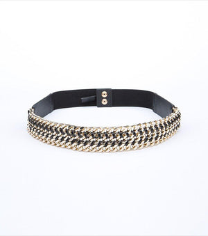 Elastic Belt With Chains BLACK/GOLD