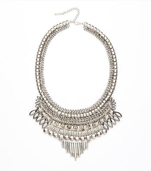 Tribal Statement Necklace ANTIQUE RHODIUM