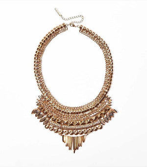 Tribal Statement Necklace ANTIQUE GOLD