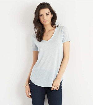 Speckled V-Neck Tee ICE GREY SPECKLE;CELESTIAL BLUE SPECKLE