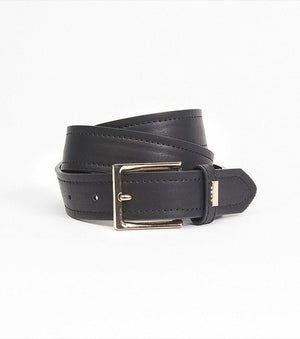 Wide Faux Leather Belt PINK;BLACK