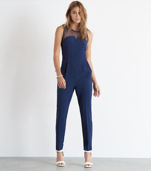 Jumpsuit with Lace MARSHMALLOW