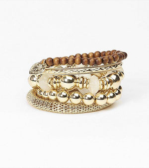Beaded Bracelet Set GOLD