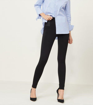 High Rise Legging With Side Details JET BLACK