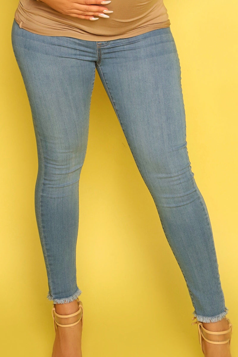 Light Denim Maternity Jeans