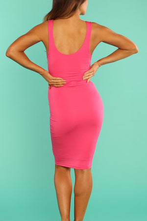 Fuscia Body Con Dress