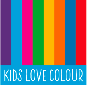 Kids Love colour rainbow logo organic cotton kids clothes