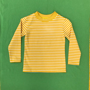 Sunflower Yellow Stripe Organic Cotton T shirt