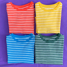 Load image into Gallery viewer, Sunflower Yellow Stripe Organic Cotton T shirt