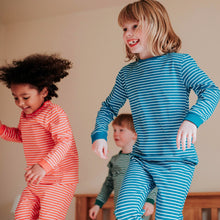 Load image into Gallery viewer, Organic Cotton Stripe Childrens Pyjamas