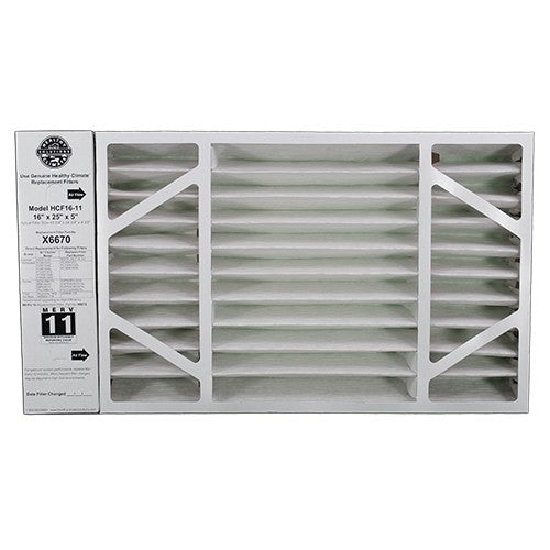 Lennox X6670 - Healthy Climate HCF16-11 Replacement Filter 16x25x5 MERV 11 (OEM) - PureFilters.ca