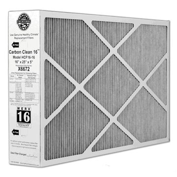 Lennox X6672 - Carbon Clean Healthy Climate HCF16-16 Replacement Filter 16x25x5 MERV 16