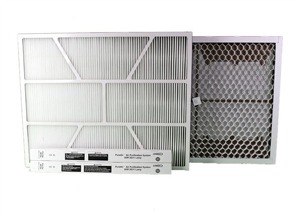 Lennox Y4591 - 1st Generation to 2nd Generation Conversion Kit: Healthy Climate PCO-20C MERV 16 w/ Insert 21x26x4 - PureFilters.ca