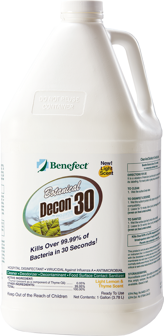 Benefect Botanical Decon 30 All-Natural Hospital Grade Disinfectant - PureFilters.ca