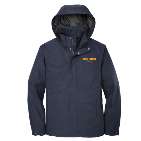 16 - MEN'S RAIN SHELL JACKET - CHEVY