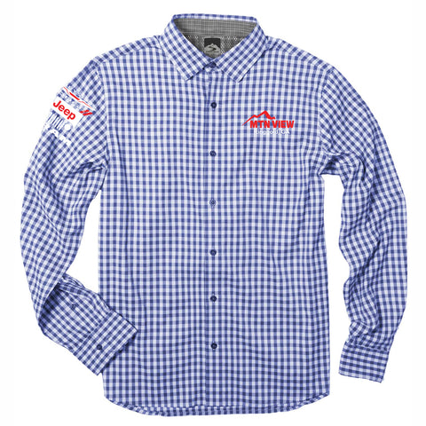 7867 L/S Stretch Eco-Woven Gingham Shirt - CDJR