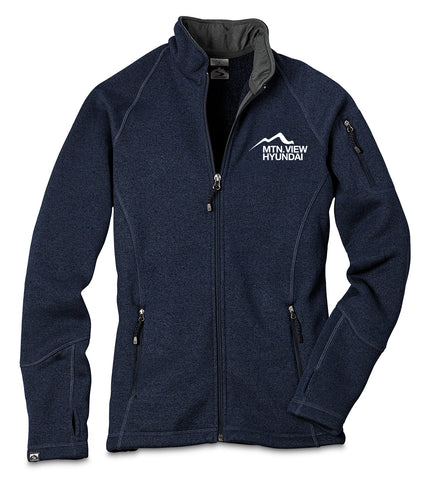 7915 LADIES SWEATERFLEECE JACKET - HYUNDAI