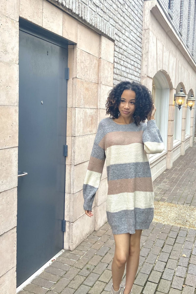 Multi Layered Oversized Sweater Dress - Fabuluxe Boutique