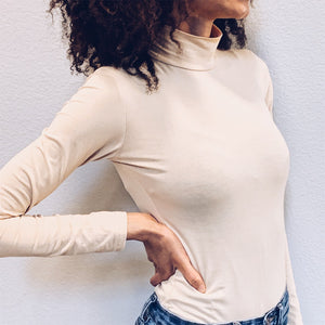 Apricot Long Sleeve Bodysuit