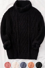 Soft Black Turtleneck Sweater