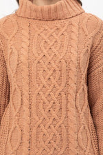 Soft Clay Turtleneck Sweater