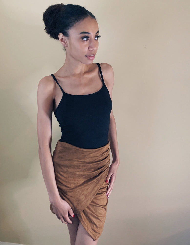 High Waist Cross Skirt
