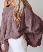 Purple Bell Sleeve Sweater PREORDER