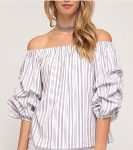 Striped Bubble Top