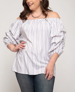 Striped Bubble Top Curvy
