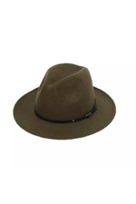 Fedora Hat (Army Green) - Fabuluxe Boutique