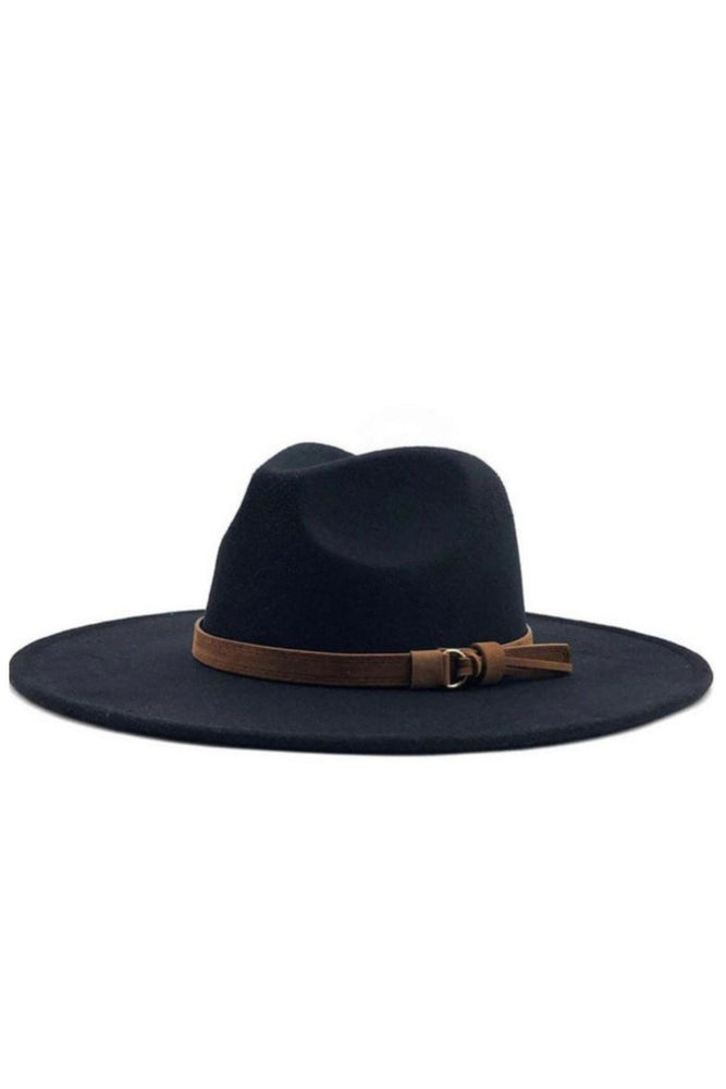 Wide Brim Black Fedora - Fabuluxe Boutique