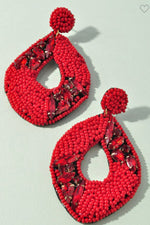 Be Beautiful Statement Earrings | Red