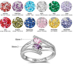 Crystal Birthstone Ring