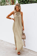 Presale Loose Sleeveless Crochet Dress