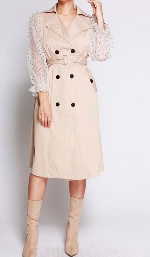 Thin Lightweight Polka Dot Trenchcoat