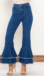 Tiered Ruffle Jeans