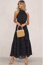 Preorder High Collar Polka Dot Dress