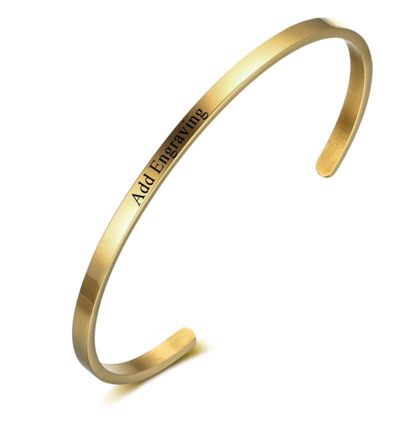 Gold Custom Bangle