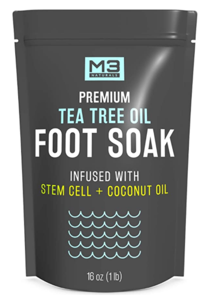 M3 Naturals Foot Soak - rejuvenate tired feet with a foot bath spa