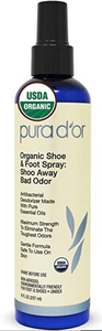 "Pura d'or Foot Spray - ""top-off"" the bathing experience with the freshest feet!"