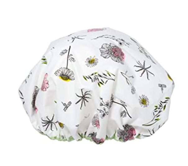 Shower Cap with Terry Cloth - keep head warm in the shower
