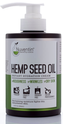 Hemp Seed Oil Instant Hydration Cream (15oz)